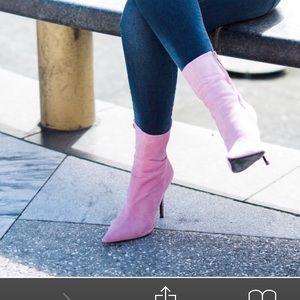 Pink Top Shop Booties